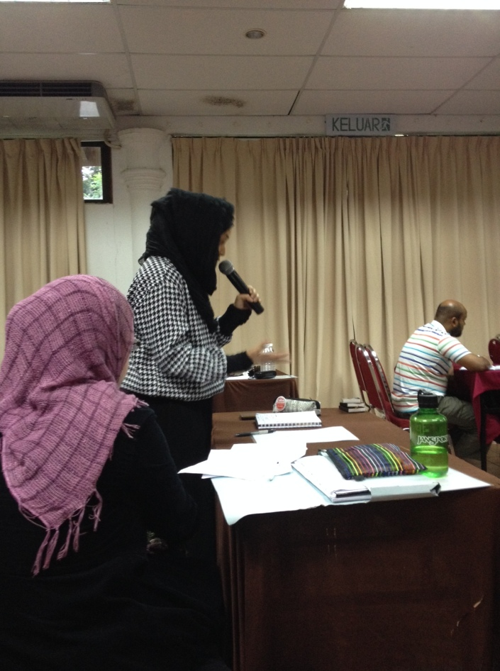 Miss Nina was explaining how she would want to contribute to dakwah. Subhanallah!